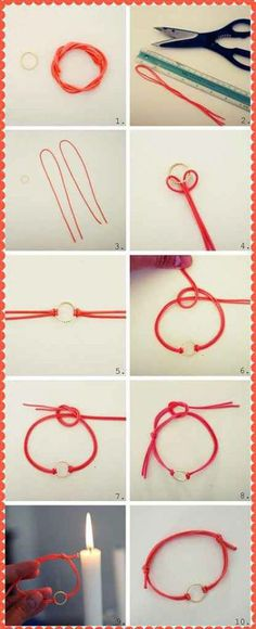 How to make a lace / como hacer un colgante-pulsera