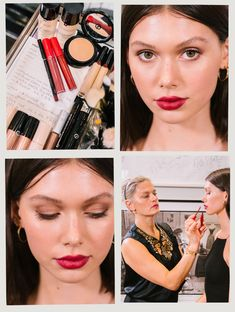 Celebrity and editorial makeup artist Pati Dubroff serves up some life-changing advice. Red Violet Hair, Red Brown Hair, Bright Red Hair, The Violet, Burgundy Hair, Red Lip Eye Makeup, Halo Eye Makeup, Red Carpet Makeup, How To Apply Blush
