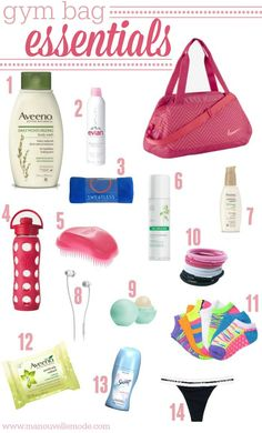 Don't get caught at the gym without your necessities! Check out this gym bag essentials list to make sure you're ready to go! #Aveeno #ad #gymbagessentials