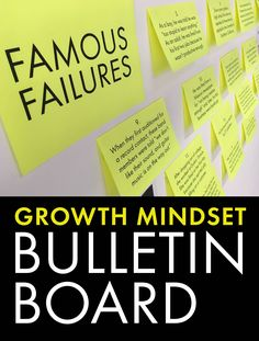 Life is hard and you will fail. It's what you do next that determines the quality of your life. Growth mindset bulletin board materials to deliver this message to students. #growthmindset #highschool #middleschool