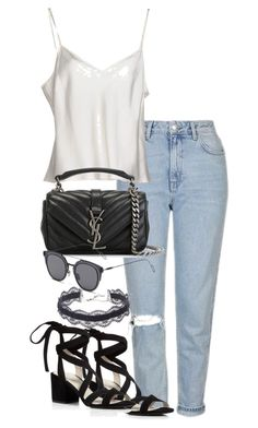 """""""Untitled #2292"""" by theeuropeancloset on Polyvore featuring Topshop, Clips, Kenneth Cole, Yves Saint Laurent, GANT and DANNIJO"""