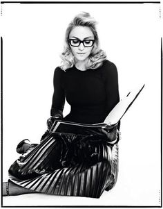 Madonna modeled a Fall US Harper's Bazaar fashions with Andrea Riseborough, star of her film W. Photographed by Tom Munro and styled by Arianne Phillips, on the picture she is wearing a Maison Martin Margiela skirt. Wallis Simpson, Material Girls, Edward Viii, Geeky Chic, Divas Pop, Rock And Roll, Madonna Fashion, Lady Madonna, Madonna Music