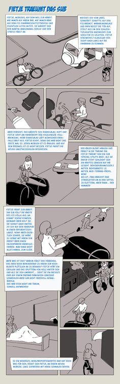 Es gibt immer einen, der noch breitere Reifen hat. #fahrrad #comic #SUV #LemonRide #Fietje