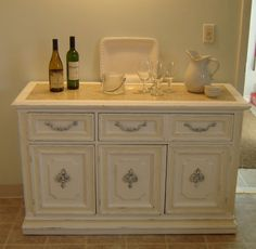 White Shabby Chic Furniture Buffet by seasidefurnitureshop on Etsy, $350.00