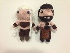 Khal Drogo and Khaleesi, Game of Thrones Plushes, Bride and Groom Plushes,  Wedding Cake Toppers, GOT Wedding