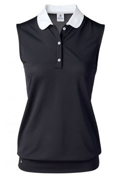 Need new golf apparel? Daily Sports takes pride in offering women a variety of golf clothing. Buy this FEMININE SPORT Black Daily Sports Ladies & Plus Size Coleen Sleeveless Golf Polo Shirt today from Lori's Golf Shoppe!