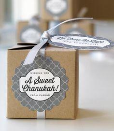 Hanukkah Coin Favor Boxes #packaging #chanukah #gelt #holiday #gift