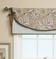 an interesting idea. Seems it would also require less fabric than many other valence styles. Bathroom Window Treatments, Bathroom Windows, Custom Window Treatments, Bath Window, Valences For Windows, Curtains With Blinds, Window Valances, Diy Curtains, Valance Patterns
