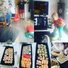Sushi de semana santa. Sobri familia y todo lo que esta bien... #family #sushi