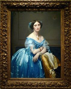 Incredible painting!  Jean-Auguste-Dominique Ingres, Princesse de Broglie, oil on canvas, 1851–53  (The Metropolitan Museum of Art)