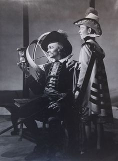 1946 - Paul Scofield as Don Adriano and David OBrien as Moth in 'Love's Labour's Lost'         $.