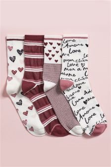Valentine Ankle Socks Four Pack Smart Women Never Go for Boring Socks, Do You? They say that socks o Fluffy Socks, Cozy Socks, Sock Shoes, Cute Shoes, Pink Socks, Happy Socks, Ankle Socks, High Heels, Converse