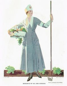 """Coles Phillips - """"Monarch Of All She Surveys"""" from a painting"""