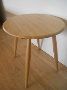 ercol chiltern contract table in solid oak and clear 65cm diameter 75cm h