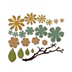 Sizzix Thinlets Die Set - Small Tattered Floral by Tim Holtz - CraftStash
