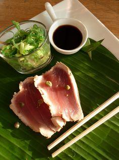 Gegrilde tonijn met wakame