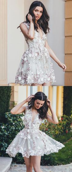short homecoming dresses,tulle homecoming dresses,flower dresses,country homeocming dresses @simpledress2480
