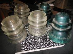 Hemingray Glass Insulators (Lot Of Five)