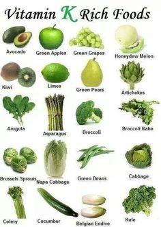 Vegetales ricos en vitamina K