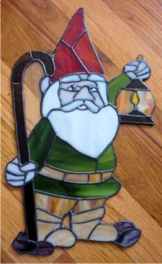terry sarlo stained glass gnome