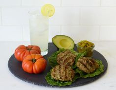 Green Chili Turkey Burgers with 7 ingredients --ground turkey, green chilis, cilantro, onion, Easy Healthy Recipes, Paleo Recipes, Real Food Recipes, Dinner Recipes, Cooking Recipes, Cleanse Recipes, Dinner Ideas, Advocare Recipes, Healthy Foods