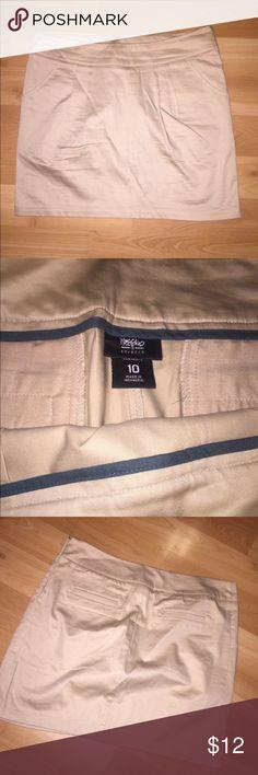 Tan Khaki Skirt Excuse the wrinkles- simple classic khaki skirt Skirts Mini