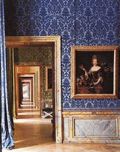 Versailles - this is exactly what I remember the most from Versailles - one amazingly wallpapered room leading to another and another and another. So amazing!