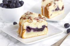 Here's a super simple recipe for Fresh Blueberry Coffee Cake utilizing fresh blueberries and a sweet glaze. Great summer brunch recipe.