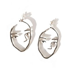 Open House Silver Sister Earrings (925 BRL) ❤ liked on Polyvore featuring jewelry, earrings, accessories, fillers, silver pendant, abstract jewelry, silver pendant jewelry, long silver earrings and long pendant