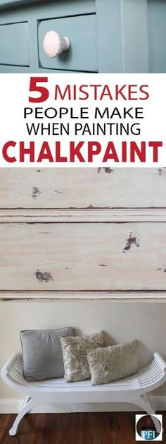Many DIYers have stumbled on common mistakes when working with chalk paint. Learn from others mistakes so you can get the results you're looking for! Stop by today to get your Annie Sloan Chalk Paint supplies. Make Chalk Paint, Chalk Paint Dresser, Chalk Paint Projects, White Chalk Paint, Chalk Paint Furniture, Furniture Projects, Furniture Makeover, Chalk Paint Techniques, Distressing With Chalk Paint
