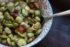 // lima beans and bacon