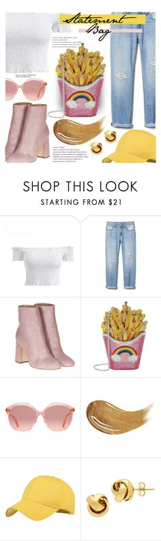 """Fair Food Bag"" by ry08 on Polyvore featuring Laurence Dacade, Judith Leiber, Gucci, Too Faced Cosmetics, Lord & Taylor, Trendy, statementbags and polyPresents"