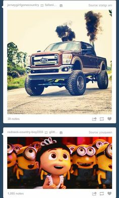 LOL!!! It can be a Ford, a Chevy, or a Dodge... A lifted truck drives this girl nuts!! :)