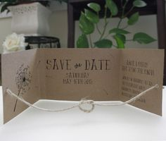 tie the knot save the date
