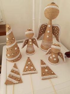 Christmas Crafts To Make, Ribbon On Christmas Tree, Christmas Gift Box, Christmas Mood, Christmas Deco, Christmas Projects, Holiday Crafts, Christmas Ornaments, Angel Crafts