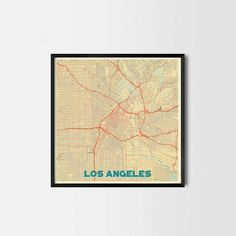 Los Angeles City Prints - Art posters and map prints of your favorite city. Unique design of a map. Retro Style, Vintage Style, Retro Vintage, Los Angeles Map, Kitchen Art Prints, Map Posters, House Art, Office Art, City Art