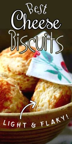 These easy Cheddar cheese biscuits rise flaky and light. Pull them apart to see the hundreds of buttery, cheesy layers!   #easy #cheddar #recipe #homemade #buttermilk Homemade Buttermilk, Homemade Biscuits, Cheddar Cheese Biscuits Recipe, Biscuits From Scratch, Easy Cheese, Light Pull, Quick Bread Recipes, How To Make Bread, Have Time