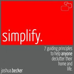 Three years ago, this typical family of four living in the suburbs made the decision to minimize their possessions, declutter their home, and simplify their life. Since then, we have inspired hundreds of thousands to live more by owning less and find greater simplicity in life.