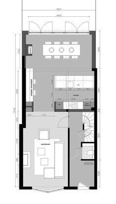 Good layout but no utility. Minimal House Design, Minimal Home, Small Buildings, Home Design Plans, Small House Plans, House Layouts, Architecture Plan, Interior Exterior, Architect Design