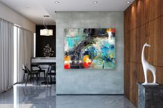 Large Modern Wall Art Painting,Large Abstract wall art,texture art painting,colorful abstract,office wall art FY0085