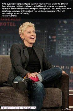 Ellen DeGeneres. 1 of the coolest people around.