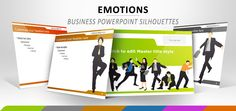 Business and Silhouette Emotions - Free Powerpoint Template