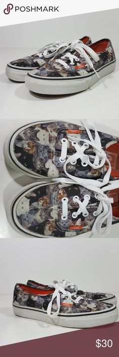 cbf759a38cae80 Vans Off The Wall Shoes Cat Themed ASPCA Size Men Vans Off The Wall Shoes  Cat