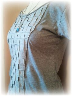 Basket Weave Upcycled T-Shirt Tutorial