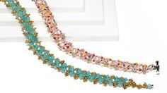 Crystal lattice bracelet