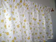 CLEARANCE  Pair of Two Floral Eyelet Valance by CleusaSordiDecor