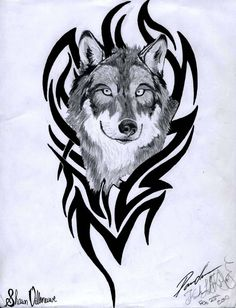 wolf art for cars | By Wildspiritwolf Jpg Tribal Wolf Justatry2552 On