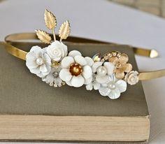 White Bridal Hair Accessory