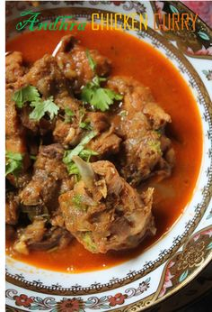 Simple Andhra Chicken Curry Recipe - No Coconut Curries - Yummy Tummy Indian Chicken Recipes, Indian Food Recipes, Andhra Recipes, Curry Recipes, Vegetarian Recipes, Cooking Recipes, Indian Cookbook, Fried Fish Recipes, Asian Kitchen