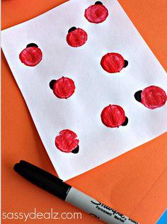wine cork ladybug craft